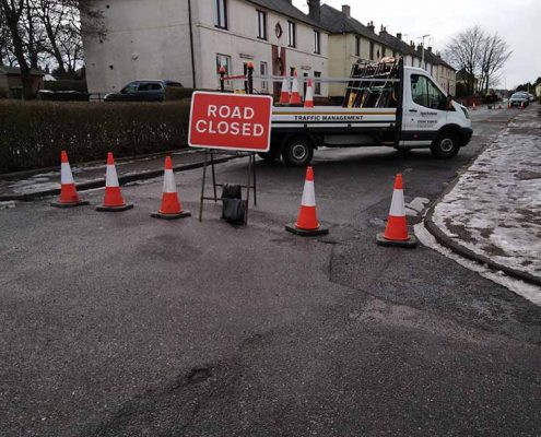 Touchstone Traffic Road Closed Aberdeen